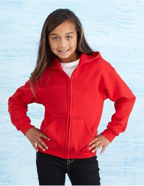 Picture of Heavy Blend™ Youth Full Zip Hooded Sweatshirt