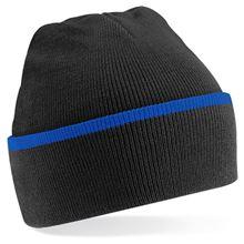 Picture of Teamwear Beanie Zwart / Blauw
