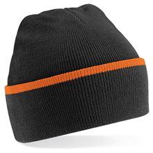 Picture of Teamwear Beanie Zwart / Oranje