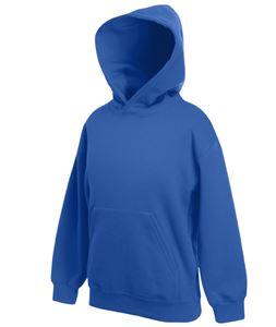 Afbeelding van Kids hooded sweat Fruit of the Loom Royal Blue