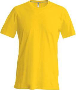 Afbeelding van Kariban Heren T-Shirt met ronde hals en korte mouwen  Yellow