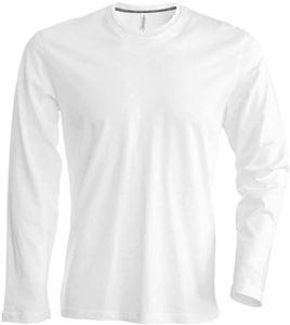 Afbeelding van Heren T-shirt lange mouw met ronde hals White