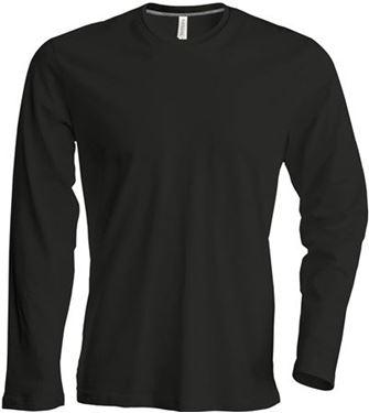 Picture of Heren T-shirt lange mouw met ronde hals Zwart