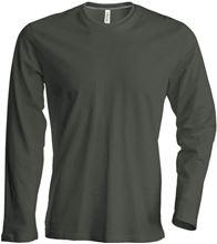 Picture of Heren T-shirt lange mouw met ronde hals Donker Khaki