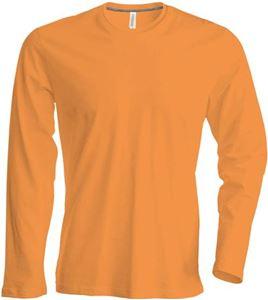 Afbeelding van Heren T-shirt lange mouw met ronde hals Orange