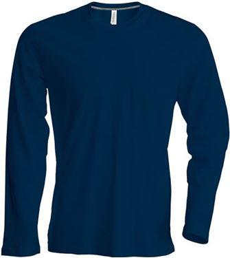 Picture of Heren T-shirt lange mouw met ronde hals Donkerblauw