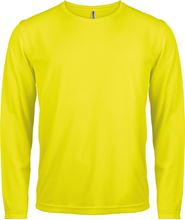 Picture of Heren Sport T-shirt lange mouw Fluorescent Yellow