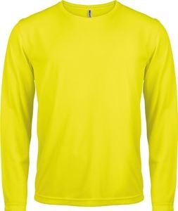 Afbeelding van Heren Sport T-shirt lange mouw Fluorescent Yellow