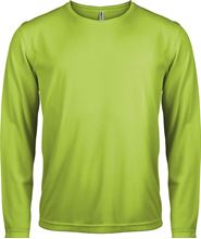 Picture of Heren Sport T-shirt lange mouw Lime