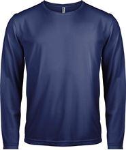 Picture of Heren Sport T-shirt lange mouw Navy