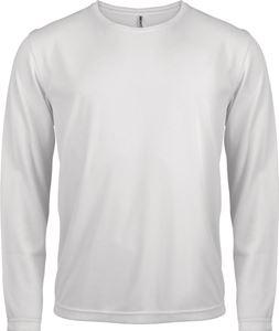 Afbeelding van Heren Sport T-shirt lange mouw White