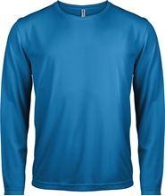Picture of Heren Sport T-shirt lange mouw Aqua blue