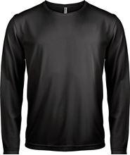 Picture of Heren Sport T-shirt lange mouw Black
