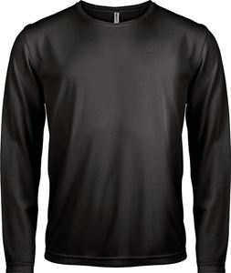 Afbeelding van Heren Sport T-shirt lange mouw Black