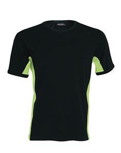 Afbeelding van Tiger - tweekleurig T-Shirt Kariban Black - Lime