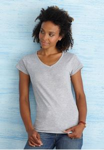 Afbeelding van Softstyle Ladies V-Neck T-shirt Gildan