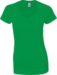 Afbeelding van Softstyle Ladies V-Neck T-shirt Gildan Irish green