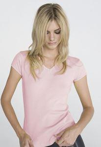 Afbeelding van Baby rib short sleeve V-Neck T-Shirt