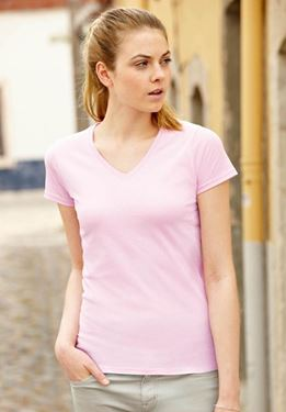 Picture of Lady fit V-Neck T-Shirt