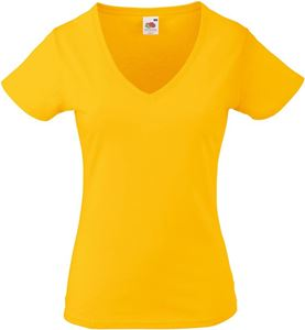 Afbeelding van Lady fit V-Neck T-Shirt Sunflower