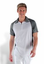 Picture of Tweekleurige Heren Polo van Proact (voorheen Kariban Sport) White / Fine Grey
