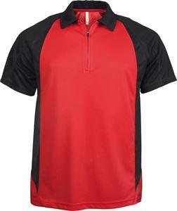 Afbeelding van Tweekleurige Heren Polo van Proact (voorheen Kariban Sport) Red / Black