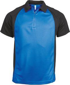 Afbeelding van Tweekleurige Heren Polo van Proact (voorheen Kariban Sport) Aqua Blue / Black