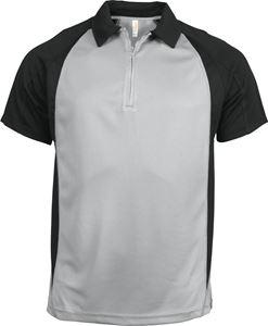 Afbeelding van Tweekleurige Heren Polo van Proact (voorheen Kariban Sport) Fine Grey / Black