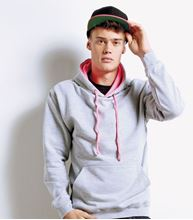 Picture of Superbright Hoodie Heather Grey / Electric Pink