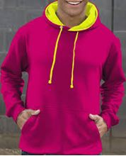 Picture of Superbright Hoodie Hot Pink / Electric Yellow