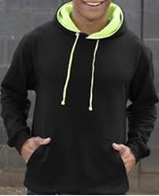 Picture of Superbright Hoodie Jet Black / Electric Green