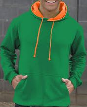Picture of Superbright Hoodie Kelly Green / Electric Orange