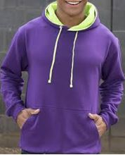 Picture of Superbright Hoodie Purple / Electric Green