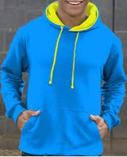 Picture of Superbright Hoodie Sapphire Blue / Electric Yellow
