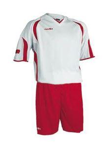 Afbeelding van voetbaltenue wit-rood