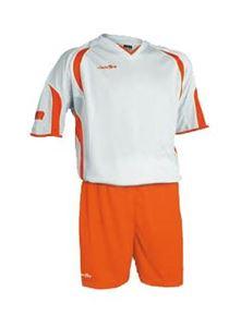 Afbeelding van voetbaltenue wit-oranje