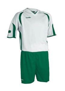 Afbeelding van voetbaltenue wit-groen