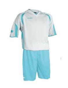 Afbeelding van voetbaltenue wit-licht-blauw