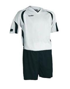 Afbeelding van voetbaltenue wit-zwart