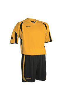 Afbeelding van voetbaltenue geel-zwart
