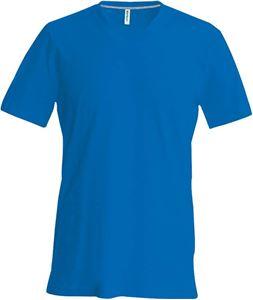 Afbeelding van Heren T-Shirt V Hals Blauw
