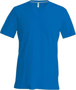 Hals T Shirt Picture Blauw Of V Heren 6BXXwP