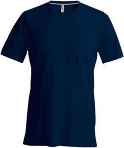 Afbeelding van Heren T-Shirt V Hals Donker Blauw