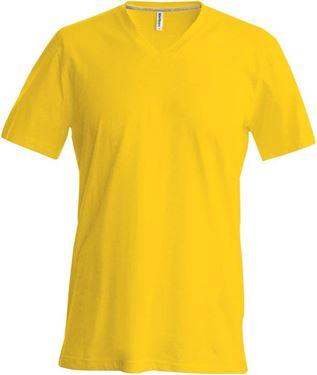 Afbeelding van Heren T-Shirt V Hals Geel