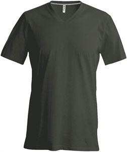 Afbeelding van Heren T-Shirt V Hals Khaki