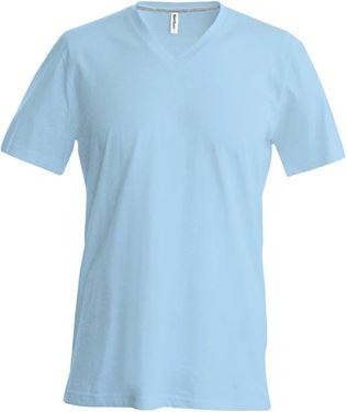 Picture of Heren T-Shirt V Hals Licht Blauw