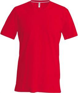 Afbeelding van Heren T-Shirt V Hals Rood