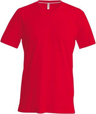 Heren T Shirt Lange Mouw V Hals Rood Bestel je makkelijk