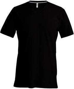 Afbeelding van Heren T-Shirt V Hals Zwart