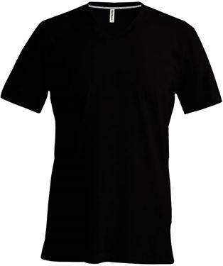 Picture of Heren T-Shirt V Hals Zwart